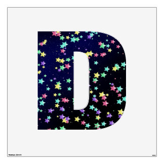 Starry Nights Wall Decal letter D-Large