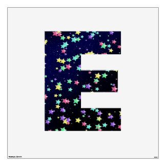 Starry Nights Wall Decal letter E-Large