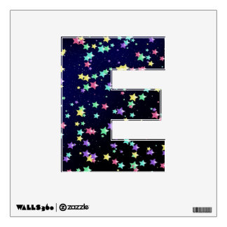 Starry Nights Wall Decal letter E-small
