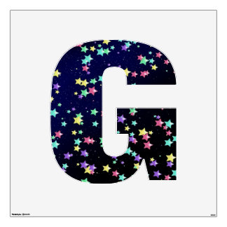 Starry Nights Wall Decal letter G-Large