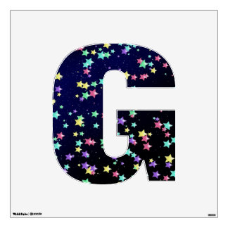Starry Nights Wall Decal letter G-Medium