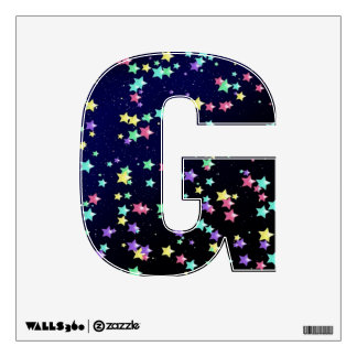 Starry Nights Wall Decal letter G-small