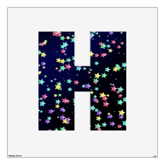 Starry Nights Wall Decal letter H-Large