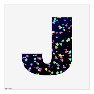 Starry Nights Wall Decal letter J-Large