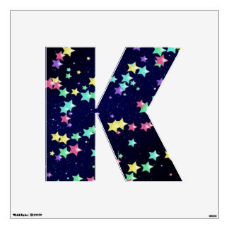 Starry Nights Wall Decal letter k-medium