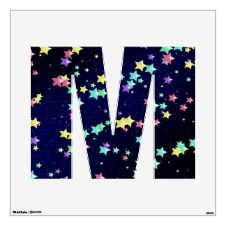 Starry Nights Wall Decal letter M-Medium