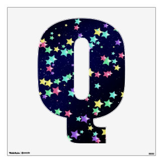 Starry Nights Wall Decal letter Q-Medium
