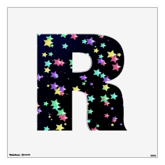 Starry Nights Wall Decal letter R-Medium