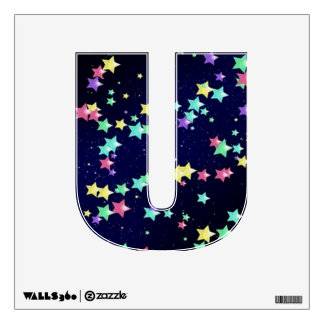 Starry Nights Wall Decal letter U-small