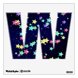 Starry Nights Wall Decal letter W-small