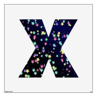 Starry Nights Wall Decal letter X-large