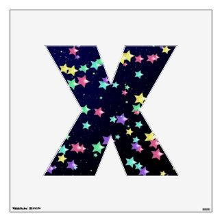 Starry Nights Wall Decal letter X-Medium