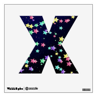 Starry Nights Wall Decal letter X-small