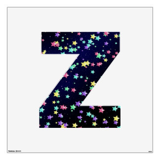 Starry Nights Wall Decal letter Z-Large