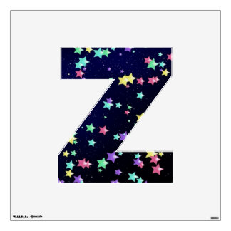 Starry Nights Wall Decal letter Z-Medium