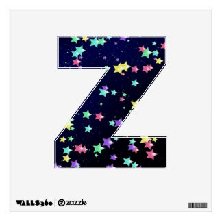 Starry Nights Wall Decal letter Z-small