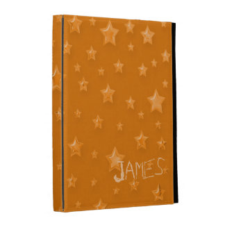 Starry Orange iPad Case Template