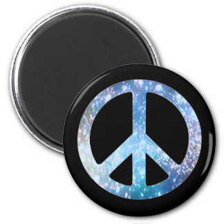 Starry Peace Sign 2 Inch Round Magnet