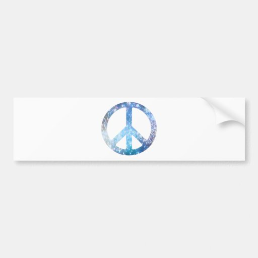Starry Peace Sign Bumper Stickers