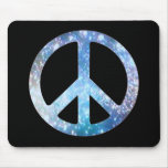Starry Peace Sign Mouse Pad