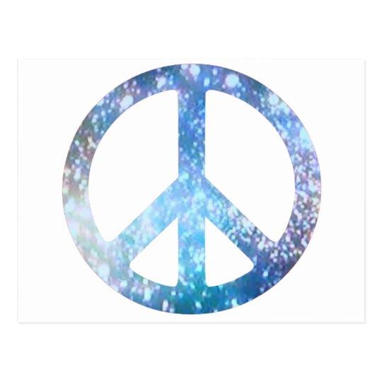Starry Peace Sign Postcard