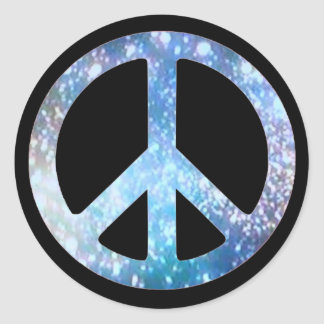 Starry Peace Sign Stickers