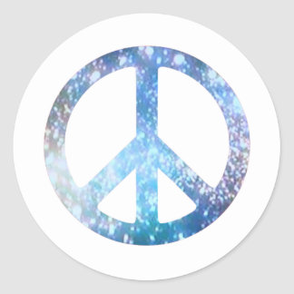 Starry Peace Sign Round Sticker
