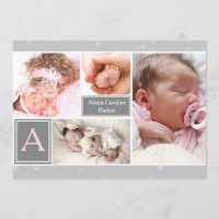 Starry Photo Collage Birth Announcement/Holiday Holiday Card