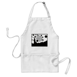Starry Pictogram Adult Apron