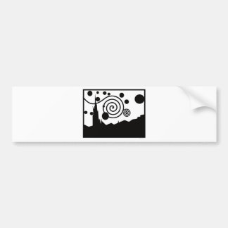 Starry Pictogram Car Bumper Sticker