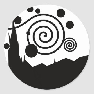 Starry Pictogram Classic Round Sticker