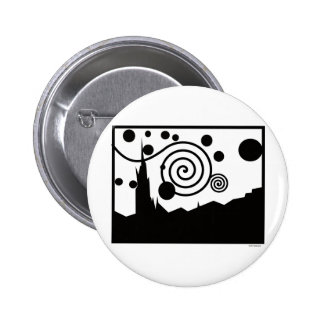 Starry Pictogram Pinback Button