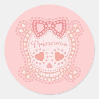 Starry Princess Classic Round Sticker