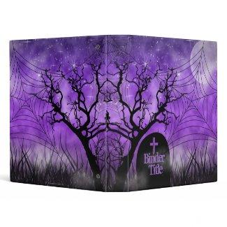 Starry Purple Ghoulish Goth Web Album Binder binder
