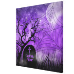 Starry Purple Goth Web Custom Wrapped Canvas Gallery Wrap Canvas