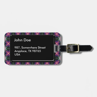 Starry quilt pattern luggage tag