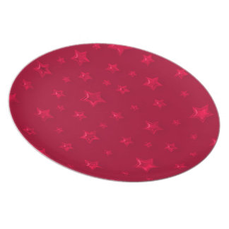 Starry Red Plate