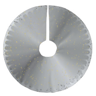 Starry Silver Christmas Tree Skirt