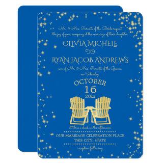 Starry Sky Adirondack Chairs Beach Wedding Card