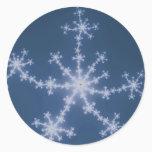 Starry Sky - Fractal Classic Round Sticker