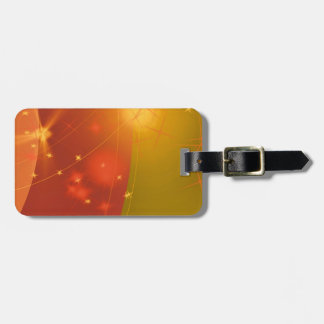 Starry sky luggage tag