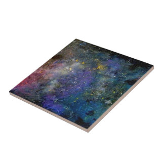 Starry sky - orion or milky way cosmos tile