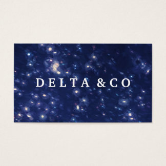 Starry Sky Painted Background Business Card