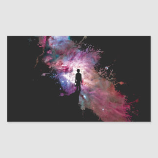 Starry sky painter supernova space star 02 rectangular sticker