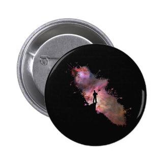Starry sky painter supernova space star 03 pinback button