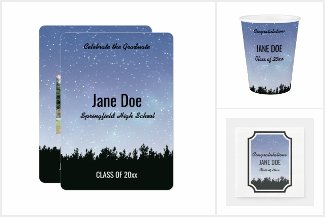 Starry Sky Personalized Grad Products