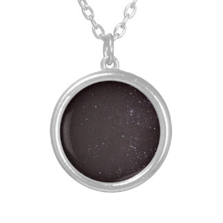 starry sky silver plated necklace
