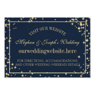 Starry Sky Sparkle Wedding Information Cards
