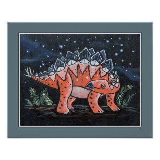 Starry Sky - Stegosaurus. Kids Wall Art