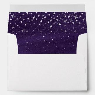 Starry sky watercolor wash Christmas envelope